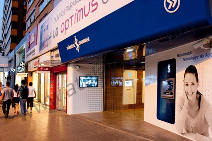 İş Bankası Fotoselli Otomatik Döner Kapı